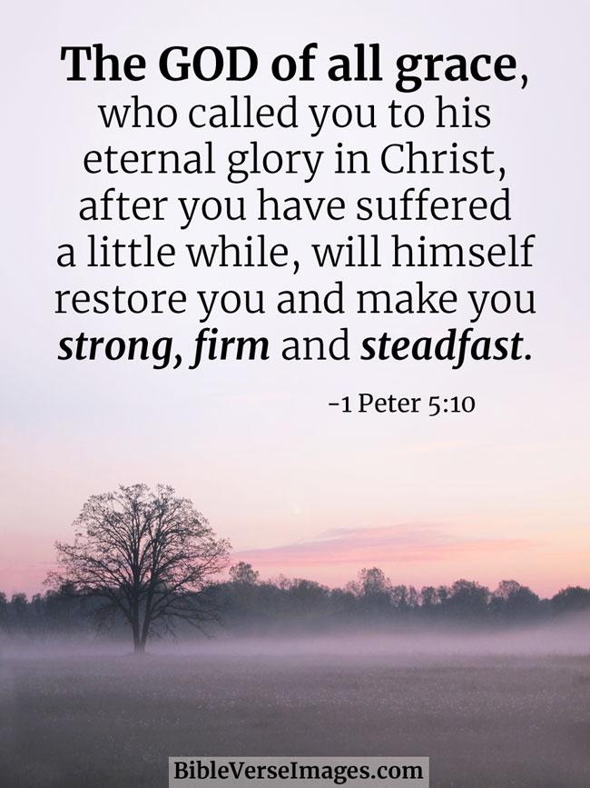 1 Peter 5:10 - Grace Bible Verse - Bible Verse Images