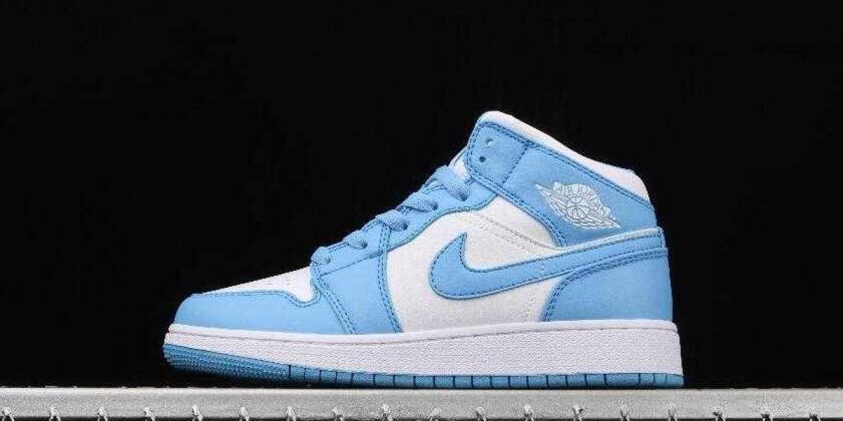 New Air Jordan 1 Mid North Carolina Blue White is Awesome Footwear