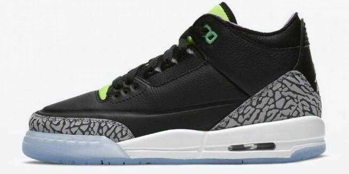 Trendy Air Jordan 3 GS Electric Green Unveils on the Top of April