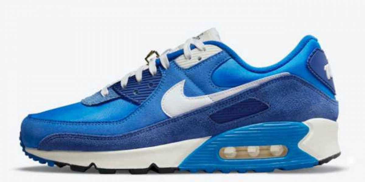 "The Latest 2021 Nike Air Max 90 ""Signal Blue"" Shoes"