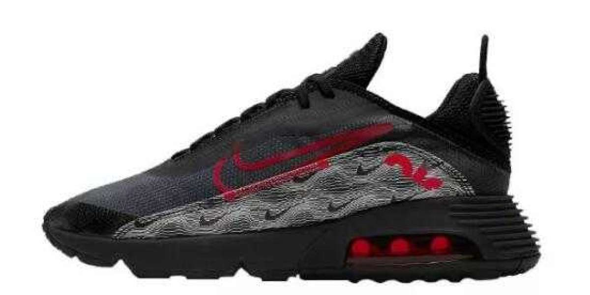 Latest Nike Air Max 2090 Topography Black Red DH3983-001 for Sale
